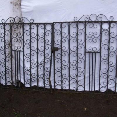 Pair of 20th Century Wrought Iron Gates