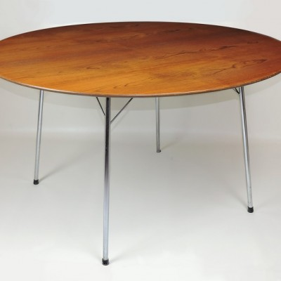 Arne Jacobsen Teak 3600 Table Fritz Hansen  Danish dining breakf