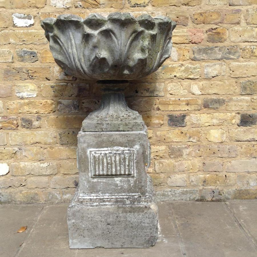 A reclaimed stone Urn