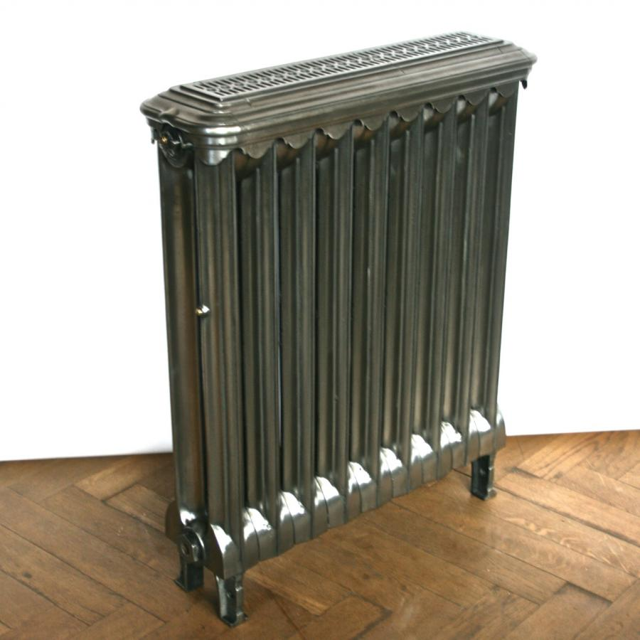 Antique Edwardian Cast Iron Radiator and Cover