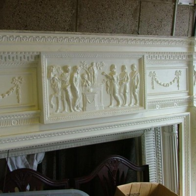 Magnificent painted gesso chimneypiece