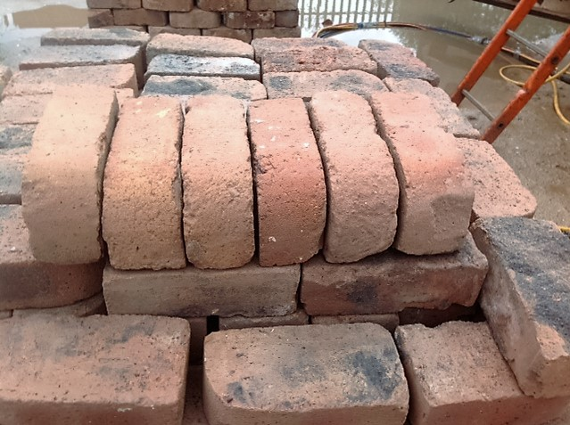 Reclaimed bullnose bricks