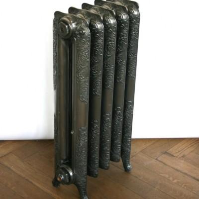 Antique Ornate Polished Cast Iron Radiator