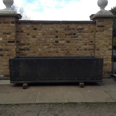 A pair of reclaimed slate troughs