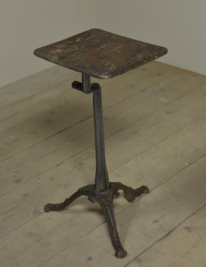 19th century antique cast iron tripod table