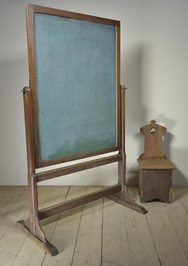 antque victorian school blackboard