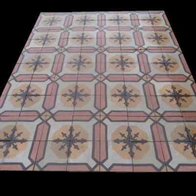 Reclaimed french patterned tiles