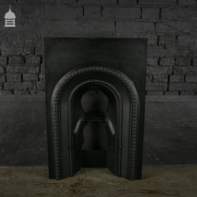 Victorian Cast Iron Arched Fire Insert
