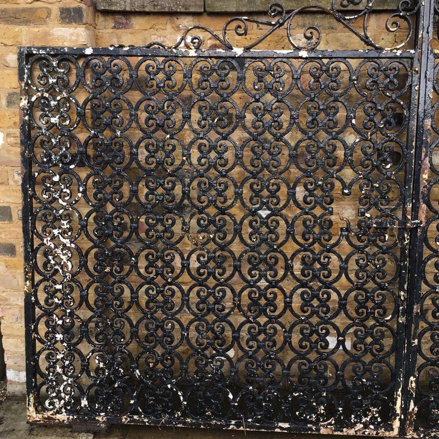A pair of cast iron gates