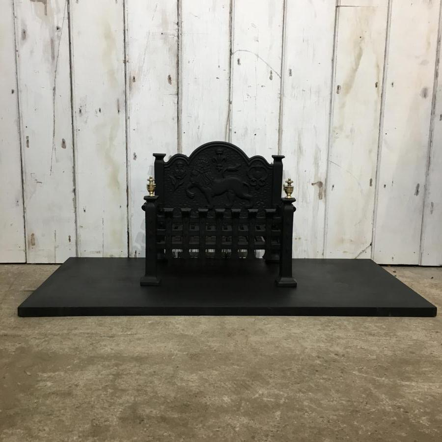 A reclaimed fire basket