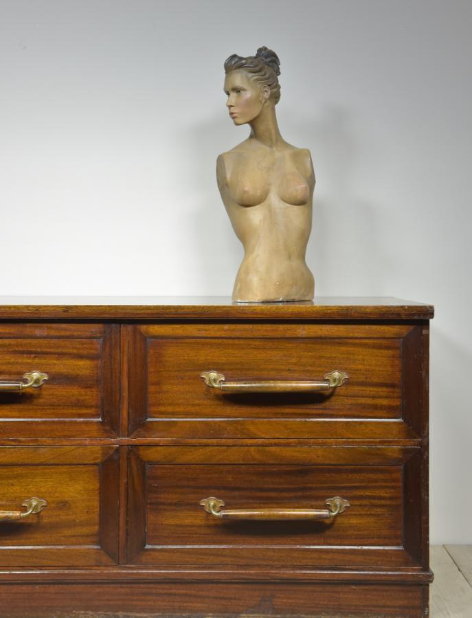 antique mahogany drapers outfitters chest of drawers