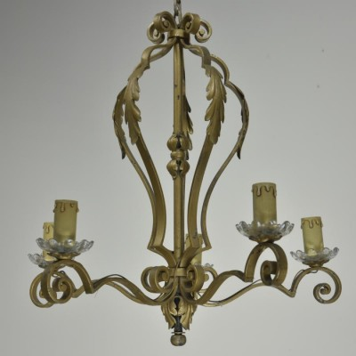 french wrought iron chandelier candelabra