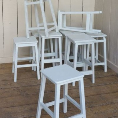 Distressed Painted Stools Ideal for Restaurants & Pubs