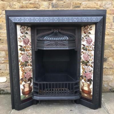 A Victorian cast iron fire Insert