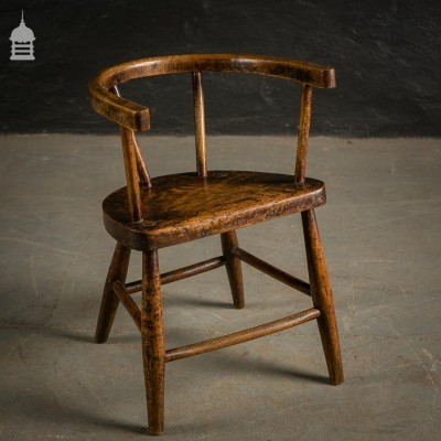 18th C Elm Child's Chair