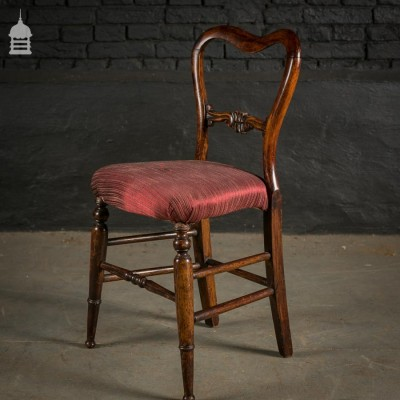 19th C Mahogany Balloon Back Child's Chair with Turned Legs