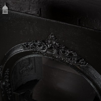 Ornate 19th C Cast Iron Arched Fireplace Insert