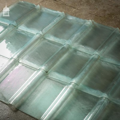 Reclaimed French Glass Pan Tiles