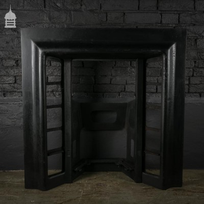 Simple Cast Iron Tiled Insert Fireplace