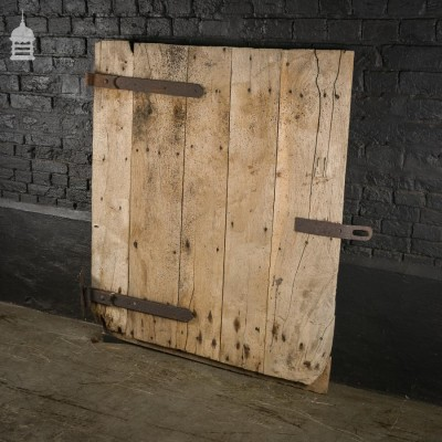 Reclaimed Antique Elm Ledged Barn Door with Original Hinges