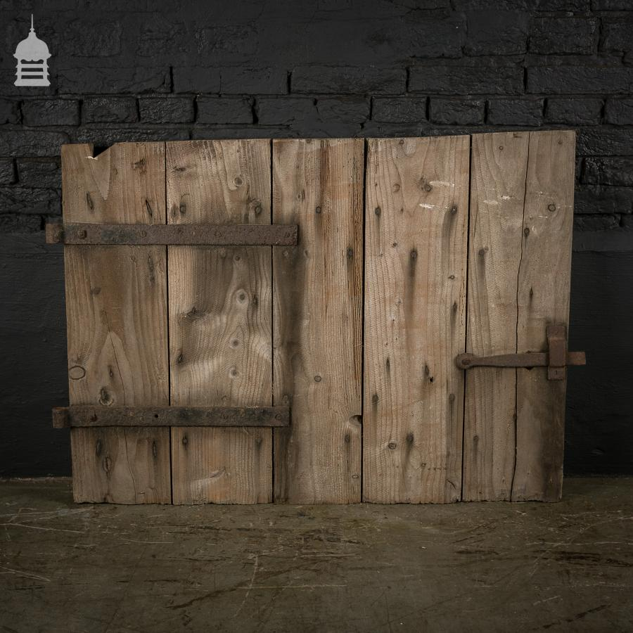 Small Pine Ledged & Braced Barn Hatch Door