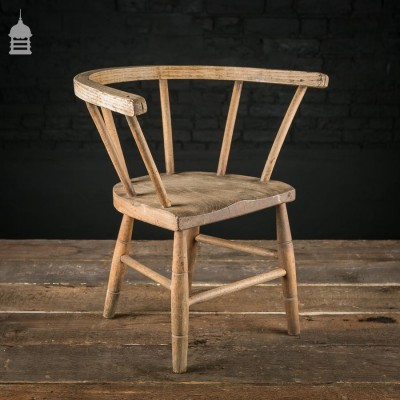 19th C Elm Childs Stick Back Chair