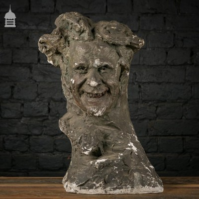 Plaster Bust of a Man 'Expressions' by Serge Youriévitch