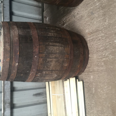 Solid Oak Whiskey Barrel