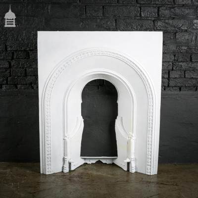 Simple Victorian Cast Iron Arched Fire Place Insert