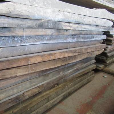 """Reclaimed Oak Boards 3"""" thick 8-15"""" wide"""