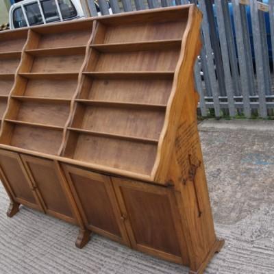 Oak display & storage unit