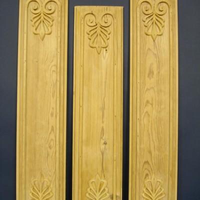 Set of three 18th century French pine panels