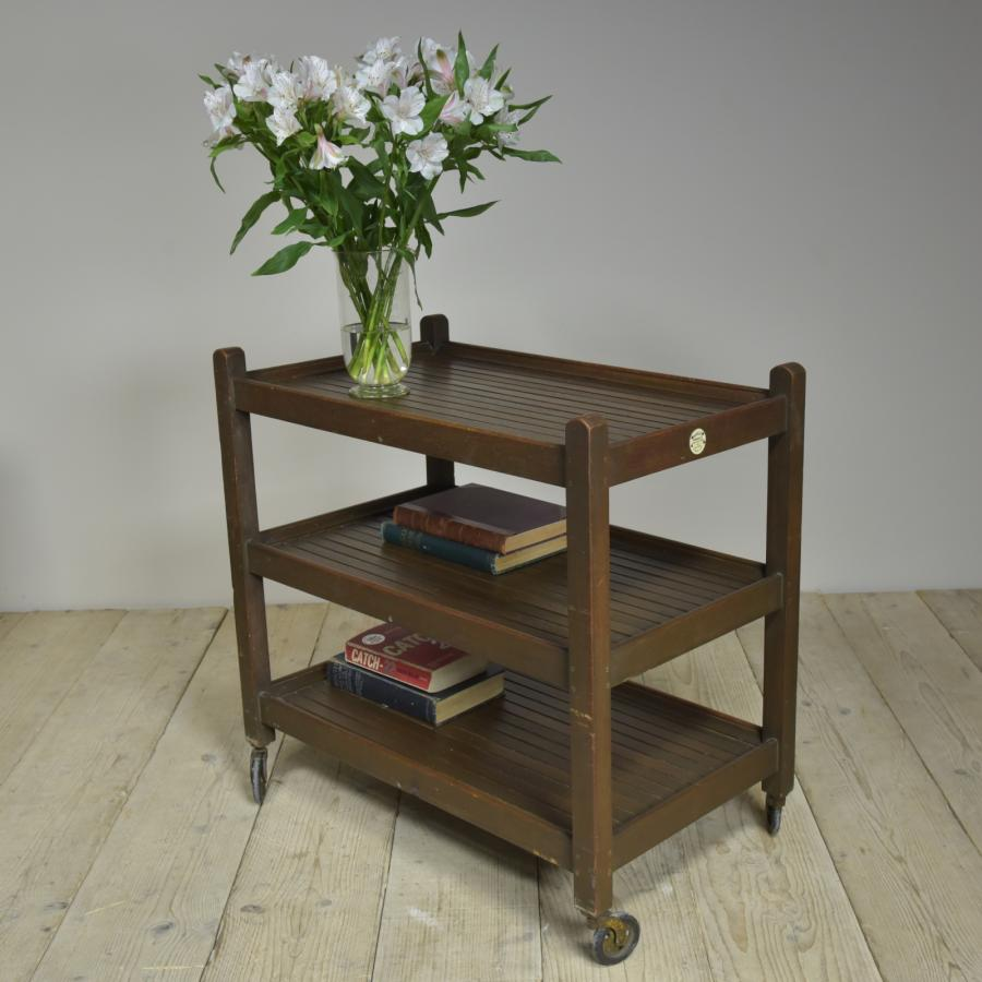 antique teak trolley by castles shipbreakers