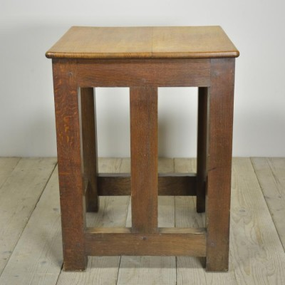 antique oak safe table or stand