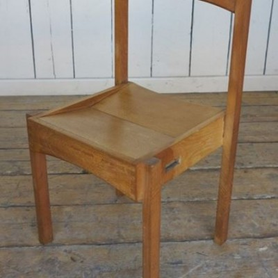 Original Solid Oak Stacking Church Chair