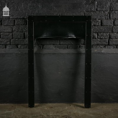 Simple Riveted Iron Fireplace Insert with Hood