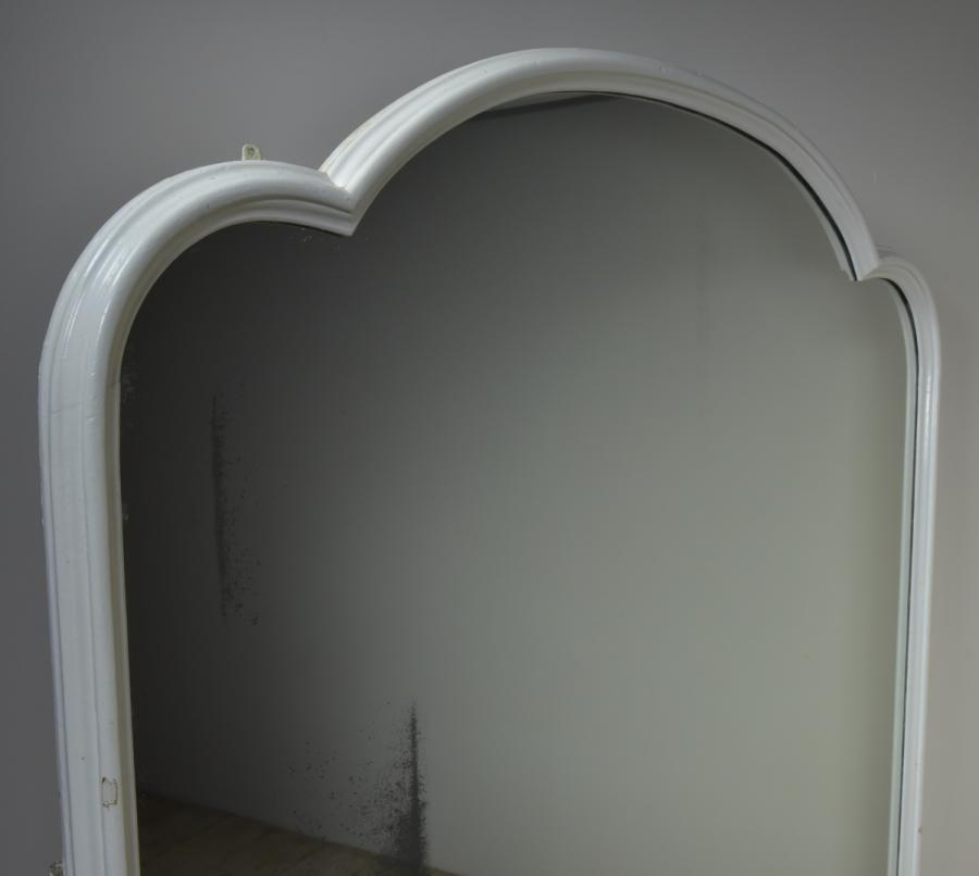 large victorian trefoil arched mirror