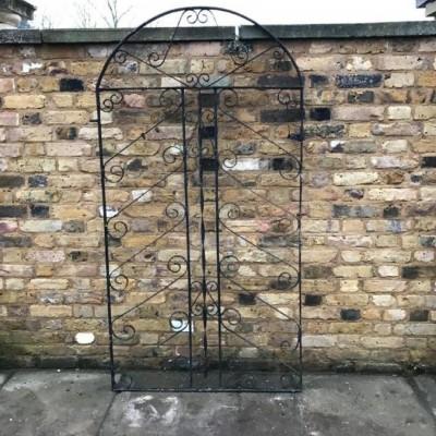 Round-Topped Wrought Iron Gate