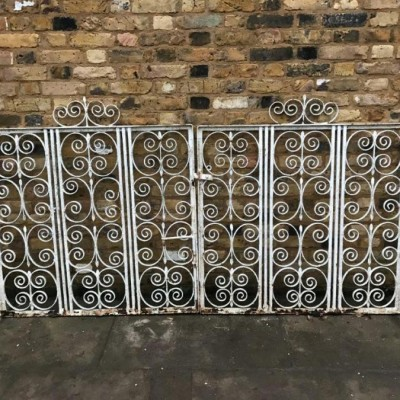 A Pair of White Reclaimed Entrance Gates