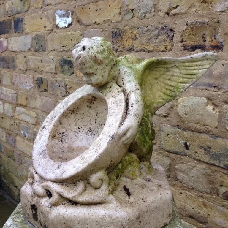 Antique Reclaimed Bird Bath/Sundial