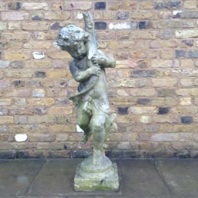 Victorian Style Boy with Fish Water Feature