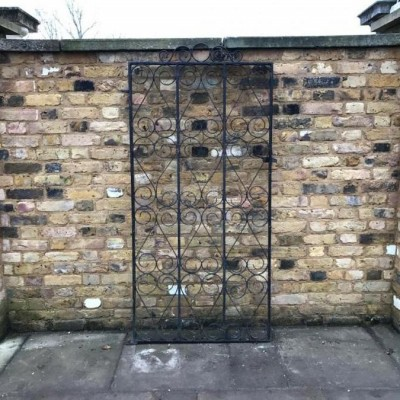 Wrought Iron Patterned Gate