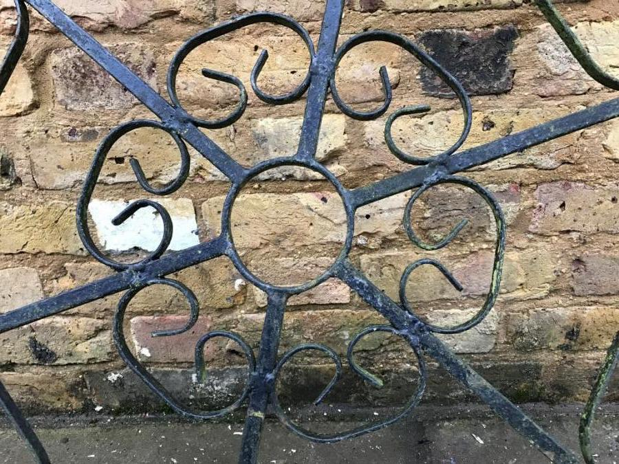 Reclaimed Wrought Iron Ceiling Medallion