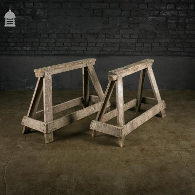 Strong Matching Pair of Carpenters Trestles Saw Horses