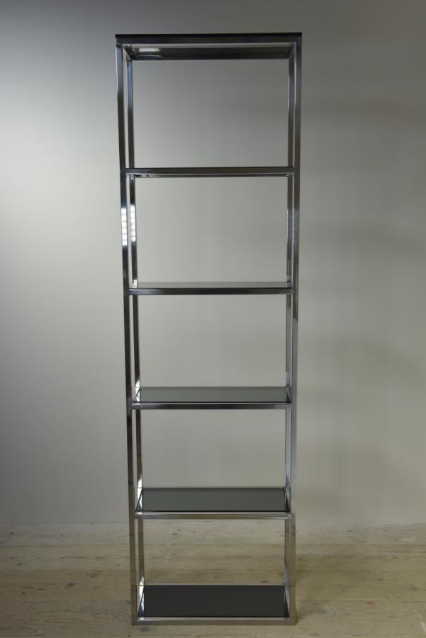 chromed brass shelf unit etagere