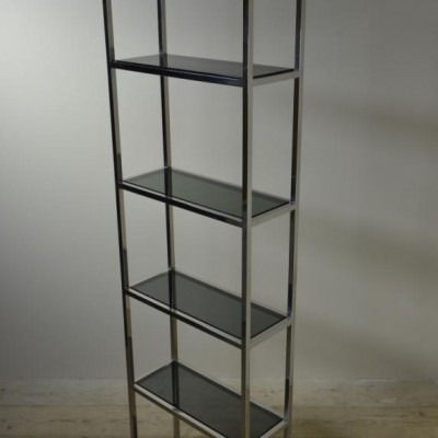 chromed brass shelf unit etagere