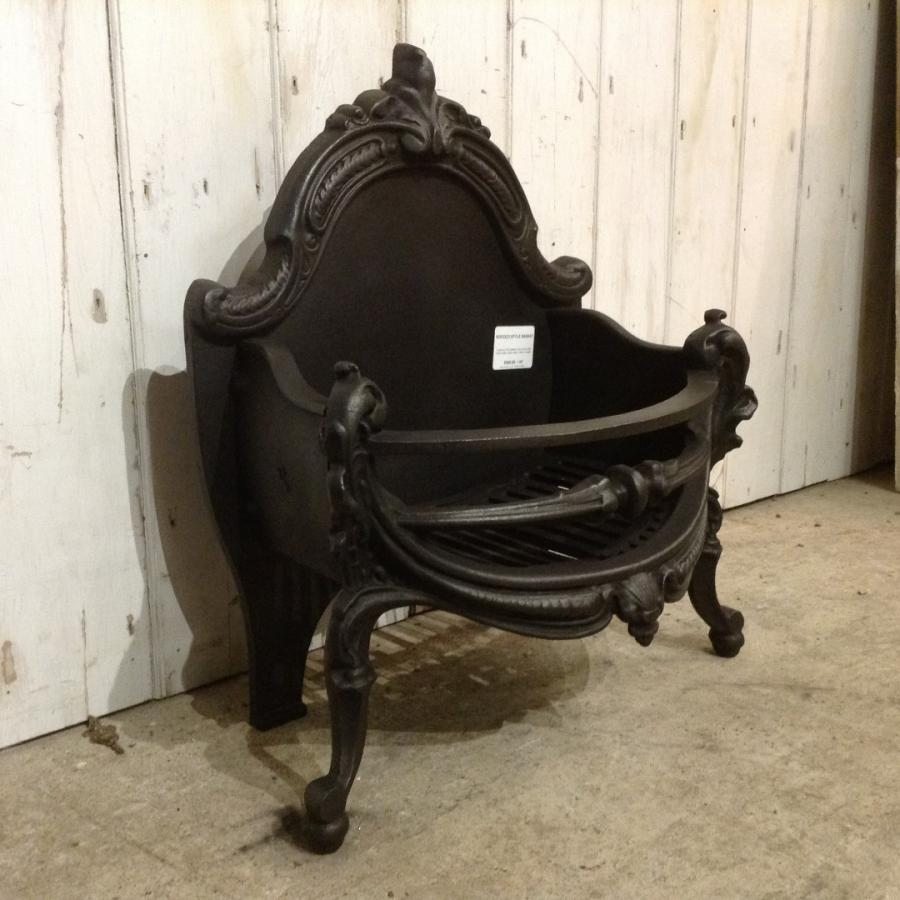Rococo Style Cast Iron Fire Basket