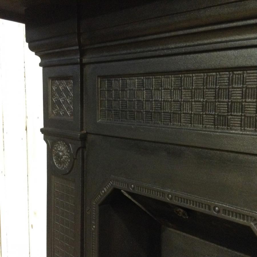 Antique Cast Iron Combination Fireplace