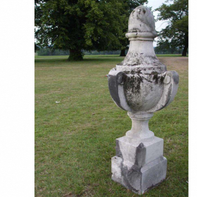 Pair of Carved Portland Stone Urns