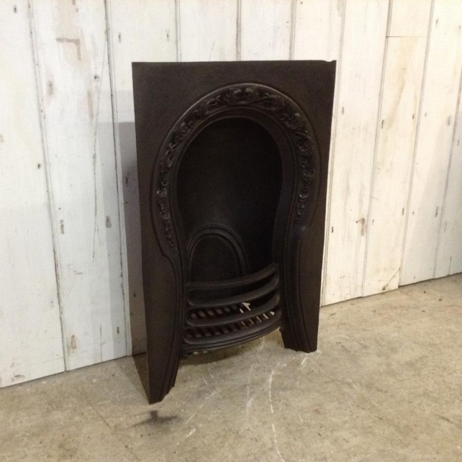 Art Nouveau Cast Iron Fireplace Insert